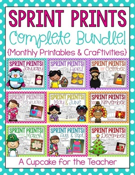Sprint Prints COMPLETE BUNDLE! {Monthly Printables & Craft