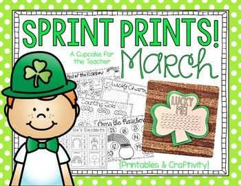 Sprint Prints! March {Printables & Craftivity}