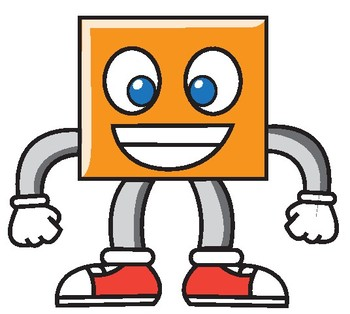 square cartoon character