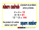 square number/numero cuadrado prim 1-way blue/rojo