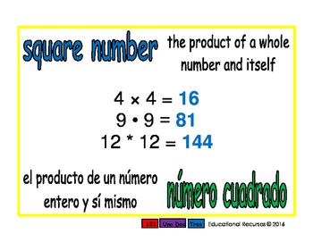 square number/numero cuadrado prim 1-way blue/verde