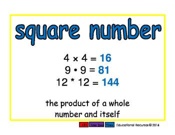 square number/numero cuadrado prim 2-way blue/rojo