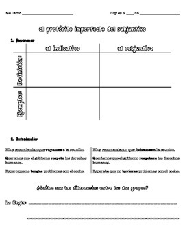 srta parisi -- the imperfect subjunctive -- guided notes