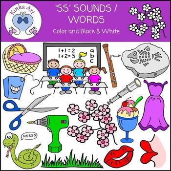 ss Sounds / Words Clip Art