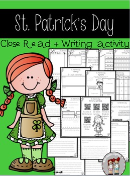 st. patrick's day close read, writing activity, and enrich