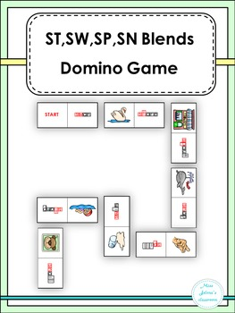 St,Sw,Sp, Sn Blends Domino Game