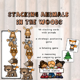 stacking animals in the woods