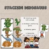 stacking dinosaurs