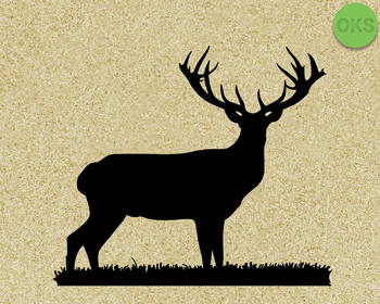 stag antlers SVG cut files, DXF, vector EPS cutting file instant download
