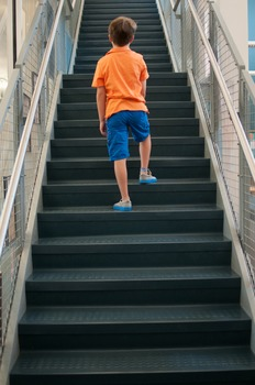 Stock Photo: Student on Stairs #2 -Personal & Commercial Use