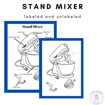 Stand Mixer - Kitchen Equipment Worksheet