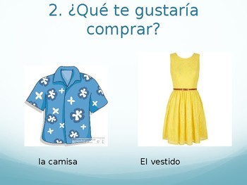 stand up, hand up, pair up Spanish clothing/shopping