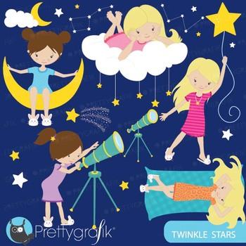 star gazing astronomy clipart commercial use, vector graphics - CL566