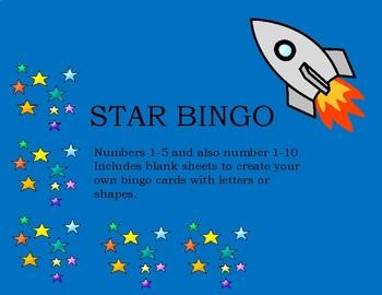 star number bingo