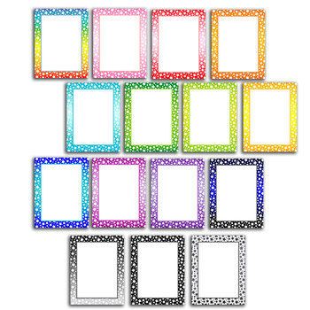 "star page border and product frame .jpg/.png 8.5""x11"" colorful/grayscale"