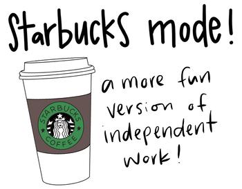 starbucks mode - PDF/poster/add to slideshow