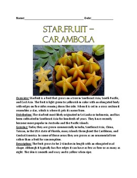 starfruit - review article lesson facts information questions