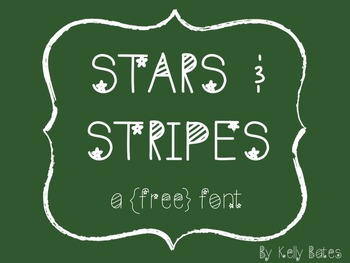 {a free font} stars and stripes