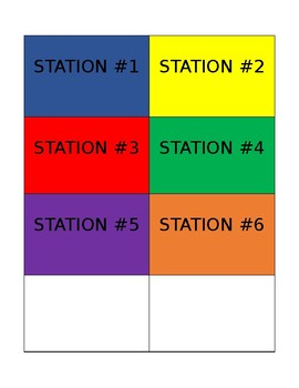 station rotation cards