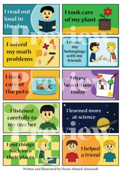 Printable stickers for kindergartners- encouraging good habits