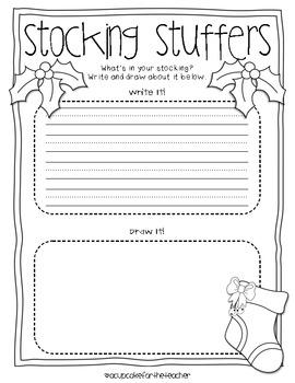 Stocking Stuffers {FREE Craftivity}