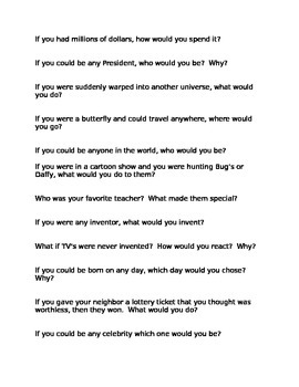 stop and think question game - standard 81/2x11 print format