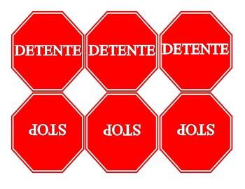 stop/detente signs