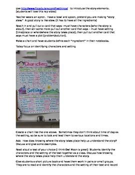 story element lesson plans