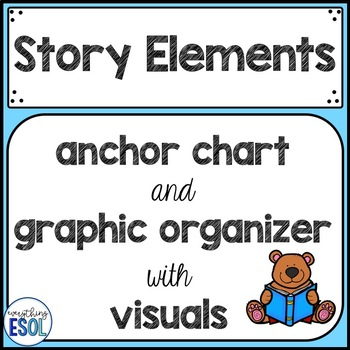 story elements with visuals anchor chart and graphic organizer