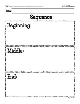 story elements: response blacklines