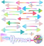 straight rainbow arrow clip art