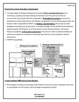 strategic human resources development