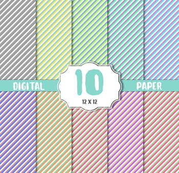strips Digital Papers Pack, paper crafts, card making, scr