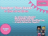 Teacher Time Saver (Spanish)