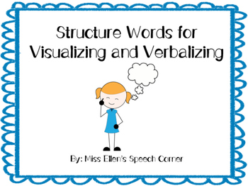 Structure words for visualizing and verbalizing
