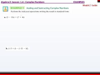 student: Algebra 2: CU 2: 1.4: Complex Numbers