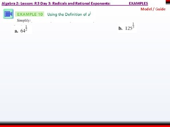 student: Algebra 2: CU 2: P.3 Day 3: Radicals and Rational Exponents