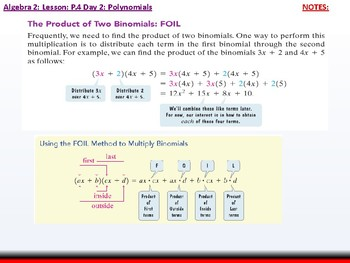 student: Algebra 2: CU 2: P.4 Day 2: Polynomials