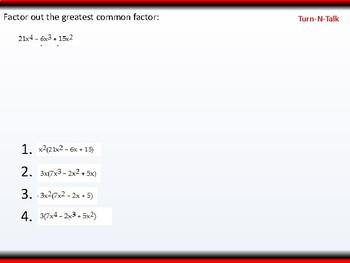 student: Algebra 2: CU 2: P.5 Day 1: Factoring Polynomials