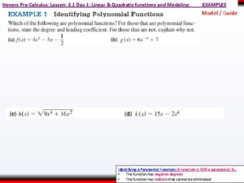 student: HPC: CU 2A: 2.1 Day 1: Linear and Quadratic Functions and Modeling