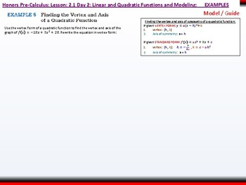 student: HPC: CU 2A: 2.1 Day 2: Linear and Quadratic Functions and Modeling