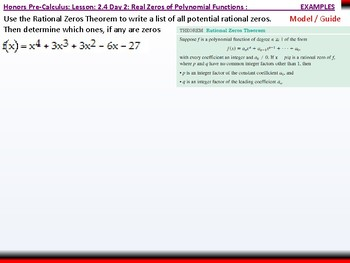 student: HPC: CU 2A: 2.4 Day 2: Real Zeros of Polynomial Functions