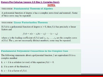 student: HPC: CU 2B:2.5 Day 1: Complex Zeros and the Fundamental Theorem of Alge