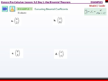 student: HPC: CU 2B: 9.2 Day 1: The Binomial Theorem