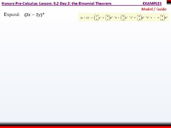 student: HPC: CU 2B: 9.2 Day 2: The Binomial Theorem