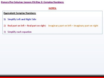 student: HPC: CU 2B: P.6 Day 2: Complex Numbers