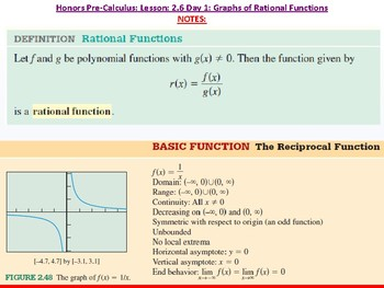 student: HPC: CU 3: 2.6 Day 1: Graphs of Rational Functions