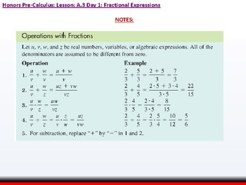 student: HPC: CU 3: A.3 Day 1: Fractional Expressions