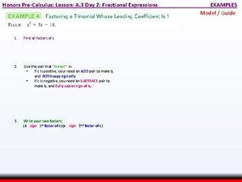 student: HPC: CU 3: A.3 Day 2: Fractional Expressions