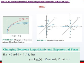 student: HPC: CU 4A: 3.3 Day 1: Logarithmic Functions and their Graphs